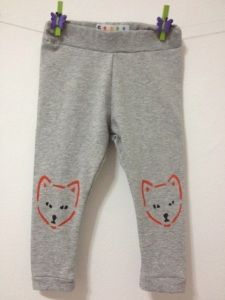 fox leggings, baby pants