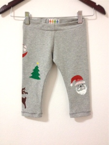 christmas baby leggings